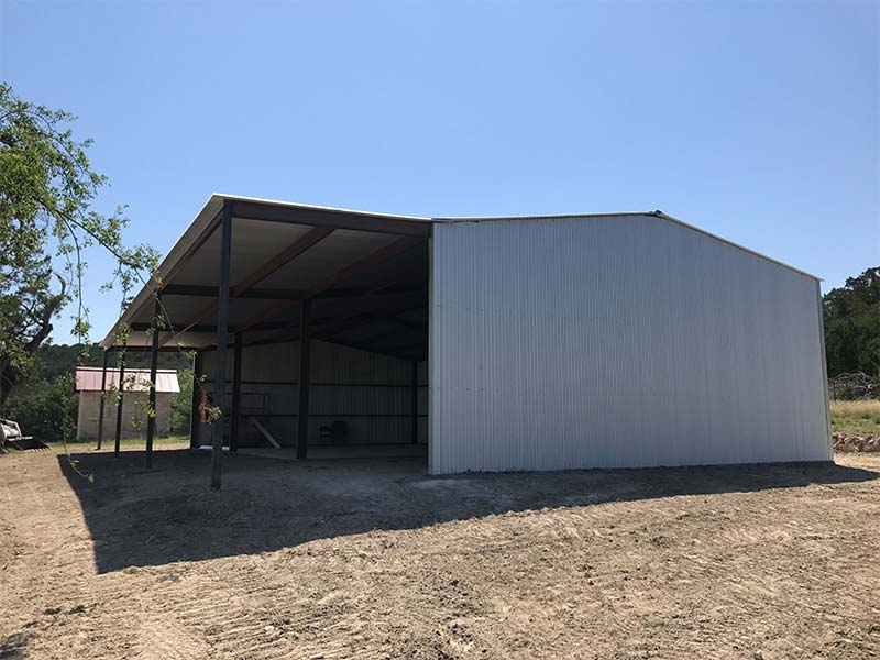 best Tractor Shed metal building Oatmeal Texas