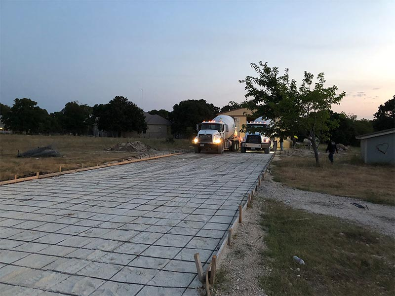 driveway poured in Georgetown Texas
