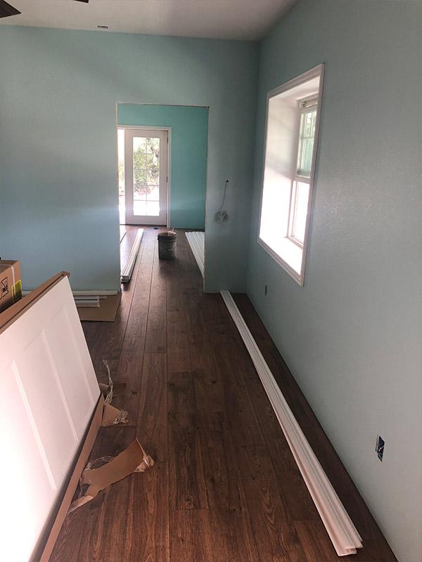 Horseshoe Bay barndominium build-out wood floors